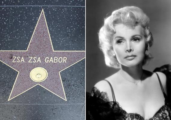Gábor Zsazsa azon kevés magyar sztárok közé tartozik, akik nemcsak az Arany Glóbuszt zsebelhették be, de még csillagot is kaptak a hollywoodi Hírességek sétányán.