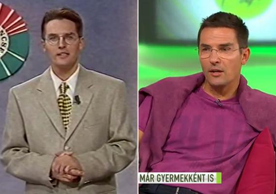 A bal oldali képen Gajdos Tamás a Szerencsekerék egyik korai adásában látható, szürke öltönyben és az évtized divatjának megfelelő, mai szemmel már kissé csúnyának tűnő, sárga-fekete jacquard pepita mintás nyakkendőben. A jobb oldali kép 2015 májusában készült a FEM3 Café műsorban, ahol a műsorvezető arról mesélt, milyen volt férfimodellnek lenni a nyolcvanas években.