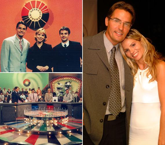 20 évvel ezelőtt a Szerencsekerékkel kezdte tévés pályafutását - bal oldali kép. Jobb oldalon Brunner Mártával, akit szintén 1993-ban ismert meg az ország, amikor Vágó István csinos segítőjeként tűnt fel a Mindent vagy semmit című vetélkedőben.