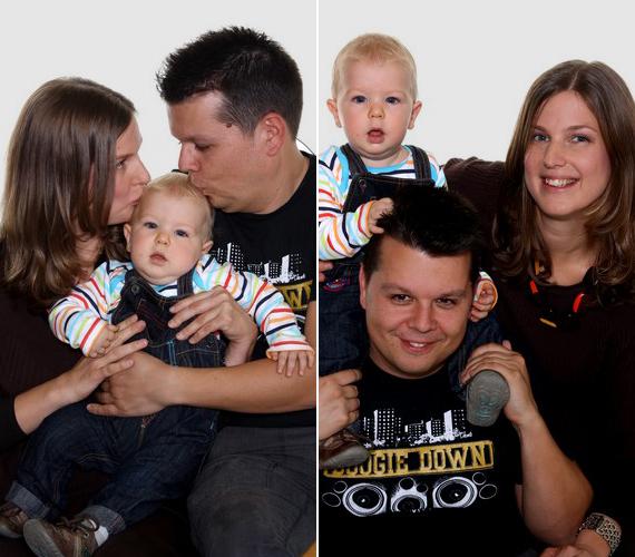 A Megasztár egykori énekese, Gál Csaba Boogie a kamerák előtt mutatta meg családját: Marianne-t és a kis Barnabást.