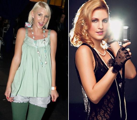 2007-ben a VIVA Cometen még kislányos külsővel, illetve a rockos, jazzes, popos, klasszikus és népzenei elemeket vegyítő Mrs. Columbo női zenekar énekesnőjeként - már mint vérbeli díva.
