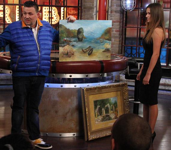 Galambos Boglárka két festményét is megmutatta a Frizbiben. Kétéves kora óta fest, mostanra már vásárlói is vannak alkotásainak.