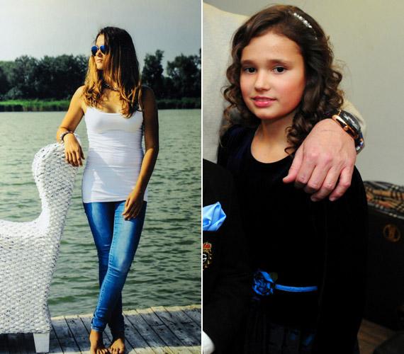 Közel négy évvel ezelőtt még kislány volt - jobb oldali fotó -, ma pedig modellként is megállná a helyét. A fotósorozaton egyébként smink nélkül látható, és a felvételeket később nem photoshopolták.