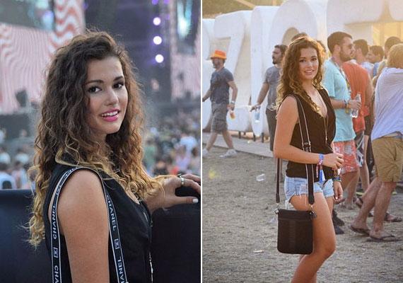 Mint sok tini, idén Galambos Lajos lánya is kilátogathatott a Sziget Fesztiválra.