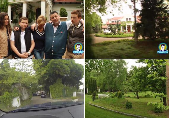 Galambos Lajos feleségével, Boglárkával, valamint gyermekeikkel, Bogival, az ifjabbik Lajossal és Istvánnal él az egykori Esterházy-birtokon, melyet gyönyörűen ápolt kert ölel körül.