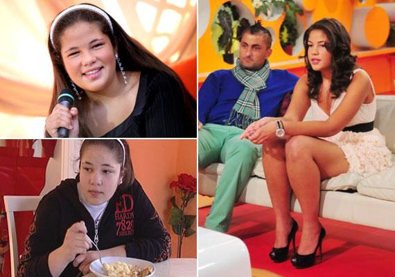 A Győzike Show idején még egy jelentős túlsúllyal küzdő tinit láthattak a nézők. 2011-re aztán látványosan lefogyott, az RTL Klub Reggeli című műsorának decemberi adásában a műsorvezető, Csonka András csak hüledezett, Evelin milyen csinos lett.