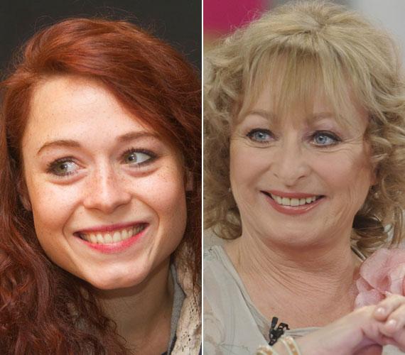 Gáspár Kata napokban készült fényképe és Bánsági Ildikó áprilisban, Jakupcsek Gabriella műsorában. A 60 fölött is gyönyörű színésznő lánya örökölte anyja finom vonásait.