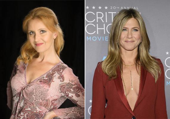 Kökényessy Ági, Jennifer Aniston magyar hangja stílusában, hajviseletében is emlékeztet az általa megszólaltatott színésznőre.
