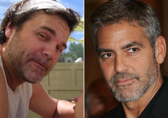Ugye, milyen hasonlóak? A huncut szemek és a borosta is stimmel, csupán Clooney-nak valamelyest oválisabb az arca.