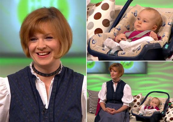 43 évesen adott életet harmadik gyermekének, a kis Vicuskának - 2014 októberében a FEM3 nézői láthatták is az akkor nyolc hónapos kislányt.