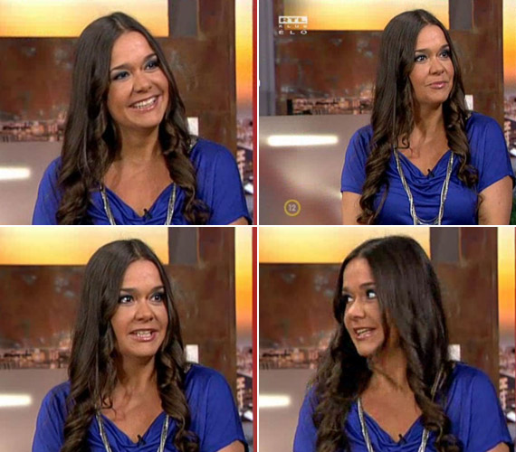 Júniusban az RTL Klub reggeli műsorának követőit bűvölte el még mindig bájos mosolyával.