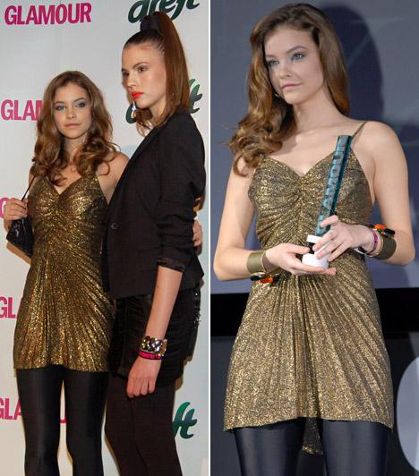 Palvin Barbara  A mindössze 18 éves Palvin Barbarát választották az olvasók az év modelljének, a babaarcú szépség csillogó arany ruhát viselt.  Kapcsolódó képgaléria: A legismertebb magyar modellek »