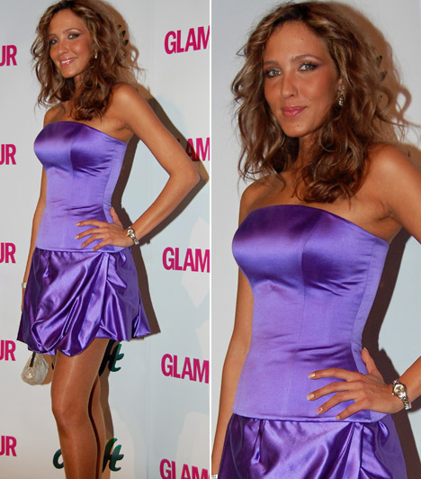 Dammak JázminAz egykori Miss Hungary kétségtelenül az este egyik legtündöklőbb szépsége volt, lila selyemruhája remekül passzolt barna bőréhez.