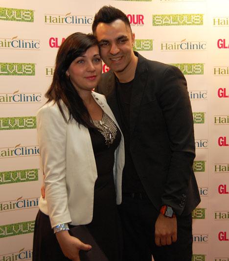 Oláh Gergő és feleségeAz X-Faktor harmadik szériájának győztesét felesége, Niki kísérte el a Glamour Women of the Year díjátadó gálára.