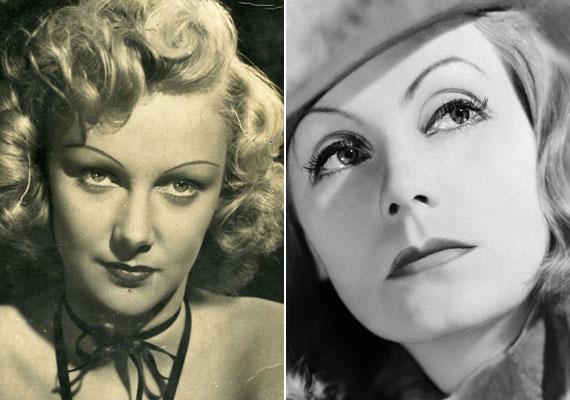 A második világháború nehéz éveiben hét filmben játszott - A beszélő köntös, Haláltánc, Fráter Loránd, Miért?, Családunk szégyene, Fekete hajnal, Szerelmes szívek. Dekoratív külseje és a hasonlóság miatt a magyar Greta Garbo - jobb oldali fotó - is lehetett volna.