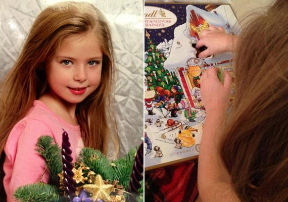 Bálint Antónia az adventi készülődés idején osztott meg pár képet kislányáról, Babikáról.