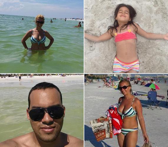 A nyaraláson mindenki felszabadult és boldog volt. A tenger a család minden tagját elvarázsolta.
