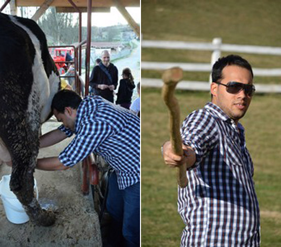 Edina férje, Alberto nagyon élvezte a vidéki hangulatot.