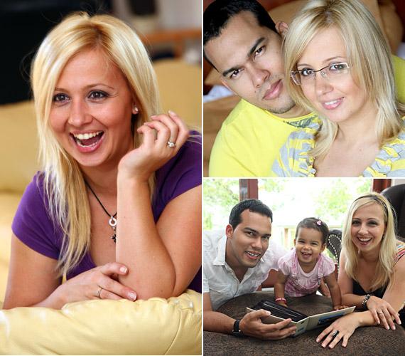 Gombos Edina férjével, Albertóval és kislányukkal, Mirandával utazott vidékre kikapcsolódni.