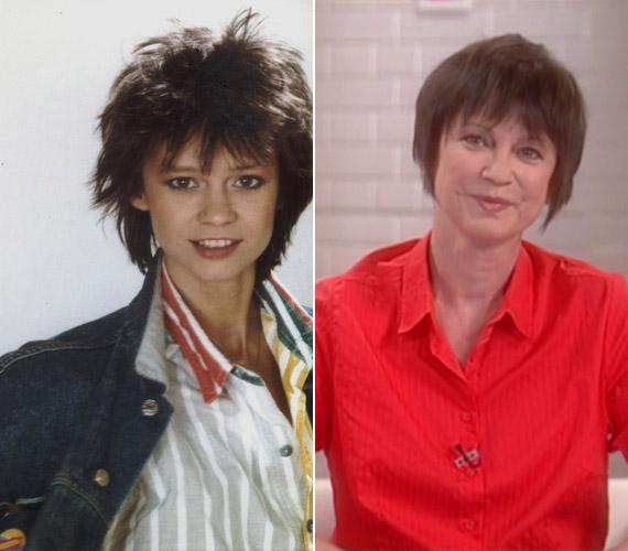 Görbe Nóra, a Linda sorozat sztárjaként és az M1 csütörtöki műsorának vendégeként.