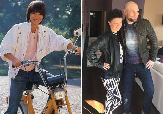 Görbe Nóra a '80-as évek népszerű sorozatában Lindaként és a klipforgatáson - közel a 60-hoz is remek formában van.