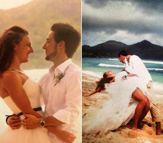 Hosszú Katinka és edző férje, Shane Tusup 2013-ban az óceán partján, szűk családi körben, lenge nyári ruhában és mezítláb házasodtak össze.