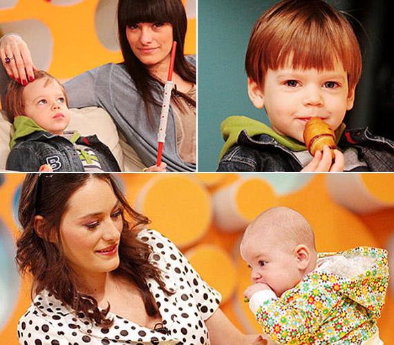 Legutóbb a Reggeli stúdiójában mutatta meg csemetéit a csinos sztármami - Lotti ekkor még kisbaba volt, de Milán is láthatóan sokat nőtt azóta.