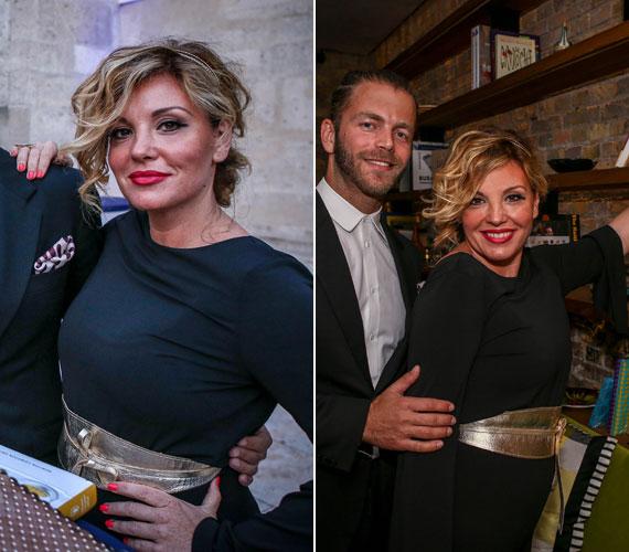 Liptai Claudia választása is egy overálra esett, amit egy aranyszínű övvel dobott fel - öltözete még így is átlagos volt az RTL Klub műsorvezetőnőjéhez képest.