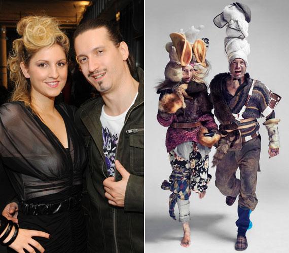 A csapat stylistja azt mondta, rendszeresen készítenek szokatlan fotókat, de az ritka és rendhagyó, hogy párokat - mint a Galambos-Pély házaspár - fotóznak.