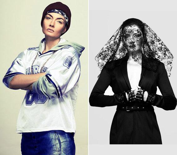 Trunkó Bálint fotóin a színésznő rapperként és fekete özvegyként is látható.