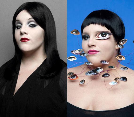 Tóth Vera még januárban változott át az Addams Family egyik fiktív szereplőjének és Marylin Mansonnak a keverékévé, illetve Beth Dittóvá, a Gossip énekesnőjévé.