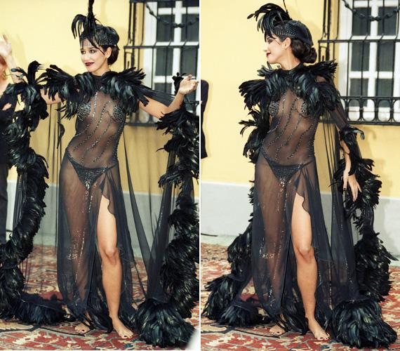 Bő tíz évvel ezelőtt még a szexi jelzővel illették - nem csoda. A 2001-es magyar dráma napján az Országos Színháztörténeti Múzeum és Intézetben rendezett különleges divatbemutatón ebben a bevállalós, átlátszó ruhában volt látható.