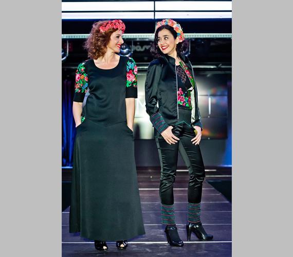 Másodjára már a romák között kevésbé megszokott, nadrágos variációban jelent meg. Ónodi Eszter egy fekete, helyenként virágokkal színesített darabot viselt.