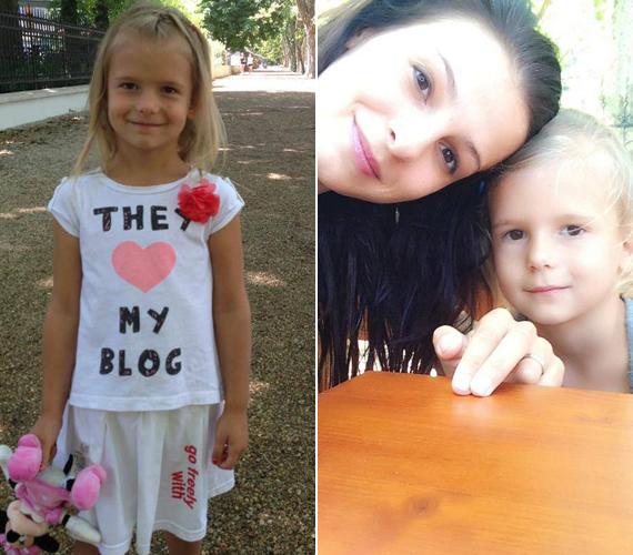 A kislány szerencsére anyukája vonásait örökölte.