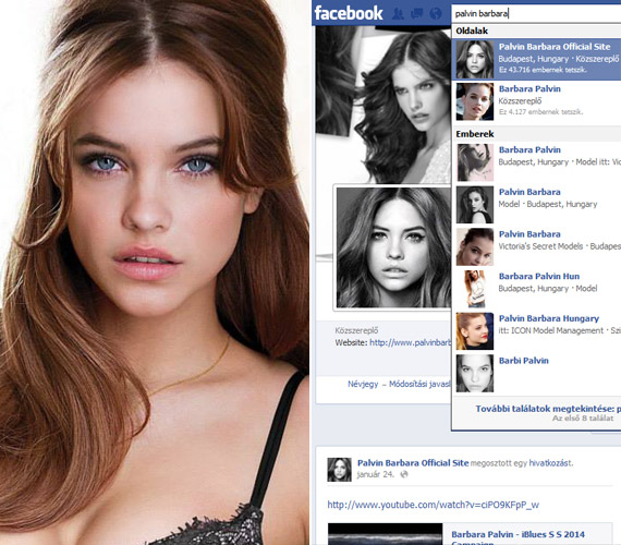 Palvin Barbara az egyik legkeresettebb fiatal modell, így nem meglepő, hogy a nevét beütve számtalan, a nevével visszaélő Facebook-oldalt találunk.