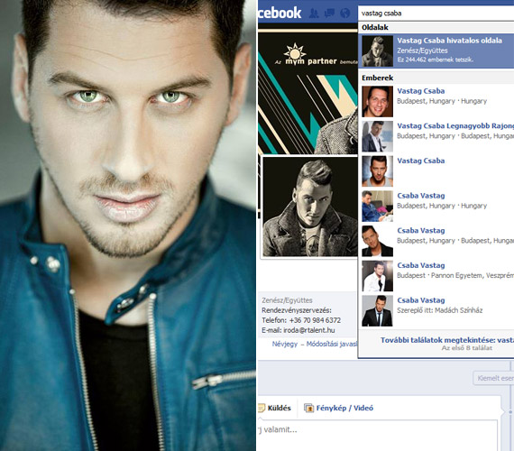 Jól látható, hogy Vastag Csaba énekes nevével is jó néhányan visszaélnek a Facebookon. Már évekkel ezelőtt azt nyilatkozta, felháborítja, hogy egyesek az ő nevében írogatnak a rajongóinak, mégpedig olyan dolgokat, amikért pirul az arca.