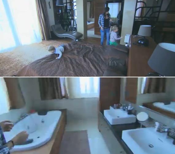 A tévés és modell felesége egy hatalmas hálón osztozik, amihez külön fürdőszoba is van.