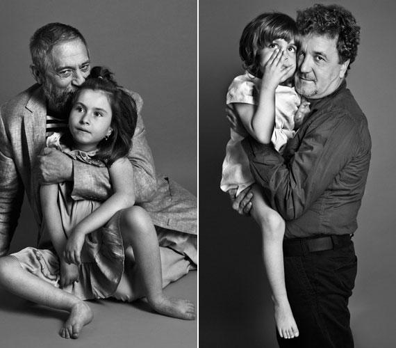 A 70 éves Jordán Tamás színész, rendező, színigazgató és Scherer Péter színész is részt vett a fotózáson.