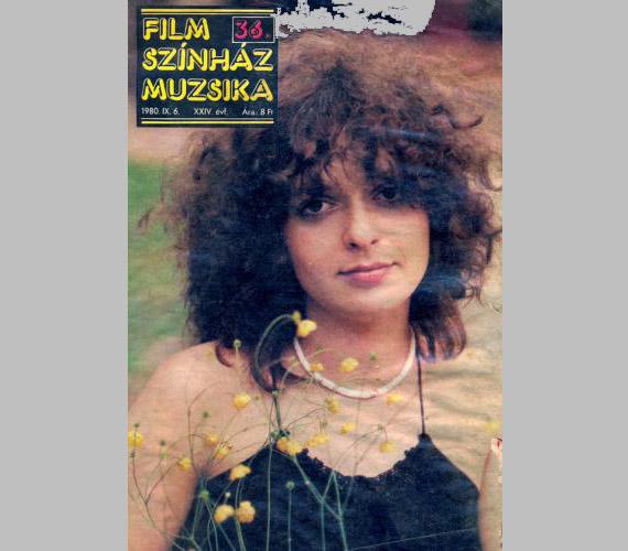 1980 szeptemberében, A pogány Madonna bemutatójának évében a Film Színház Muzsika borítóján.