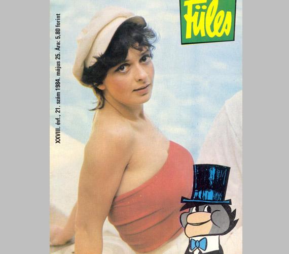 Hernádi Judit a Füles 1984. május 25-én megjelent címlapján.