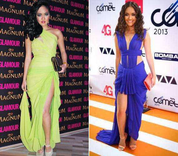 Az idei Glamour-gálán és a VIVA Cometen Rúzsa Magdolna divattervező gyönyörű kreációiban jelent meg.