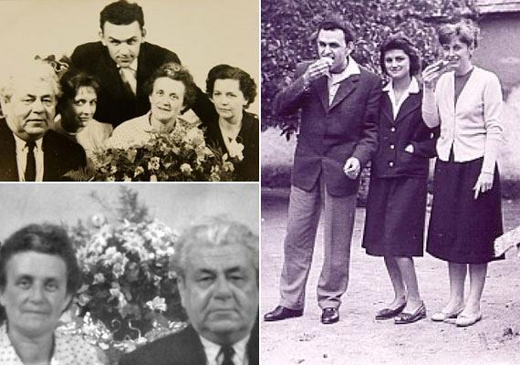 Hofi Géza egyik nagy szerelmét, első feleségét, Vnoucek Margitot, azaz Gittát - a jobb oldali fotón a második hölgy - egy tánciskolában ismerte meg. A szülők egyik oldalon sem támogatták a kapcsolatot, azonban a szerelem győzött. 23 évesen, 1959-ben mondták ki az igent, házasságuk az asszony haláláig, 36 évig tartott. A bal oldali fotókon szülei és testvérei is láthatóak.