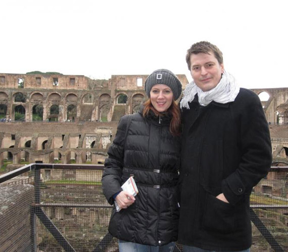 Polyák Lilla és férje, Homonnay Zsolt Rómában vakációzott.