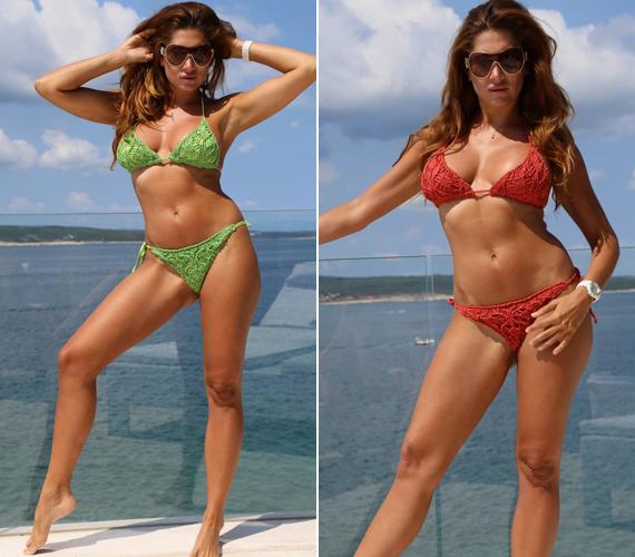Horváth Éva 35 évesen is remekül néz ki, alakját a rendszeres sportnak és a diétának köszönheti.