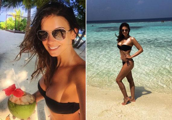 Sarka Kata családjával már nem először nyaralt idén januárban a Maldív-szigeteken, ahonnan ezúttal is számtalan bikinis fotót tett fel közösségi oldalára.
