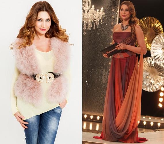 Legyen egy hétköznapi öltözet vagány kiegészítővel, vagy egy lenyűgöző Dalaarna estélyi, Horváth Éva mindkettőt tudja viselni.