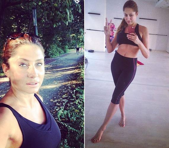 Horváth Éva nemcsak sportrajongó, de ő is rendszeresen edzi a testét. A margitszigeti futópályáról több ízben is posztolt, a másik fotó pedig Bikram jóga előtt készült.