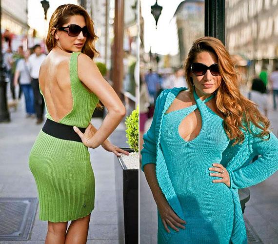 A Süel divatos, kötött ruhadarabokat dob piacra: egyik legszexisebb ez a zöld, testhez simuló, hátul teljesen kivágott kreáció.