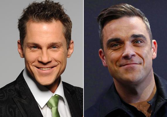 Egyesek szerint Hujber Ferenc és Robbie Williams is megszólalásig hasonlítanak egymásra. Botrányos kijelentéseikben mindenképpen.