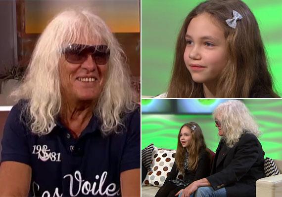 Kóbor János 64 évesen lett lányos apuka. A ma már nyolcéves Léna és az énekes fia között 31 év a korkülönbség.